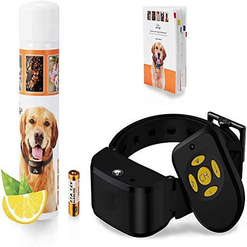 CSHBD2020 Nieuwe Remote Trainer Anti-Bell Collar met Spray, Trainingshalsband voor Honden, Afstandsbediening + Automatische Spray, Inclusief Citronella Spray Navulling, Waterdicht, Oplaadbaar