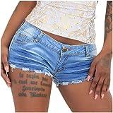 Weant Damen Shorts Sexy Jeans Zerrissen Hotpant Teenager Mädchen Kurze Hosen Sommer Jeans Sexy Streth Hotpants Jeanshosen Denim Shorts Bermuda Shorts Freizeitshorts