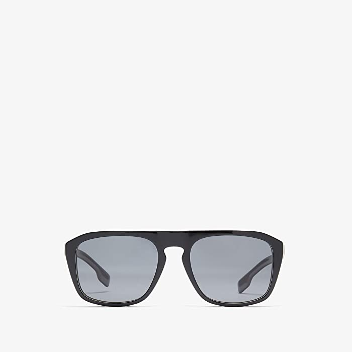 Burberry  0BE4286 (Black Multilayer Check/Polarized Grey) Fashion Sunglasses