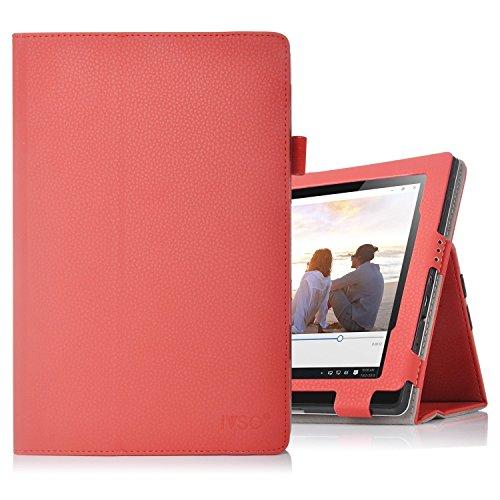 ELTD Lenovo Yoga A12 cover, Book-style Funda de piel de cuerpo entero para Lenovo Yoga A12 con la función, Rojo