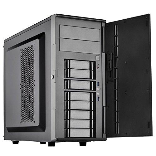 Silverstone Technology CS380B Silverstone DIY ATX NAS Storage Case with Hot Swap Cases