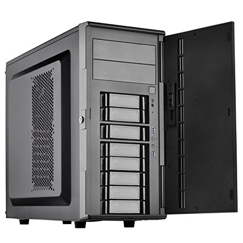 SilverStone Technology SST-CS380B-USA DIY ATX NAS/Server Storage Computer Case with