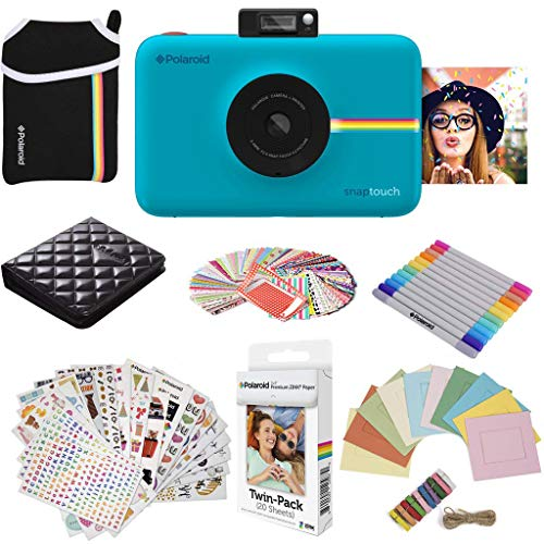 Polaroid Snap Touch Instant Digital Camera (Blue) Protective Bundle with 20 Sheets Zink Paper