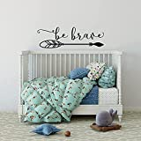 Be Brave - Adhesivo decorativo para pared, diseño con texto en inglés 'Be Brave'