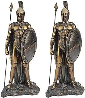 Design Toscano Legendary Spartan Warrior Statue: Set of Two