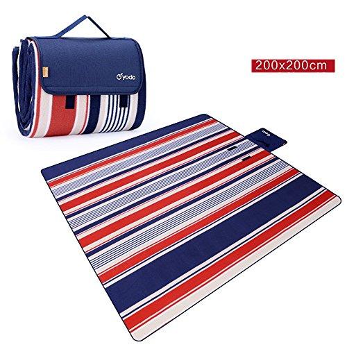 COCO Outdoor camping picknick mat vocht pad strand tent mat waterdicht gewatteerde gazon mat picknick doek 200cm*200cm Baby #1