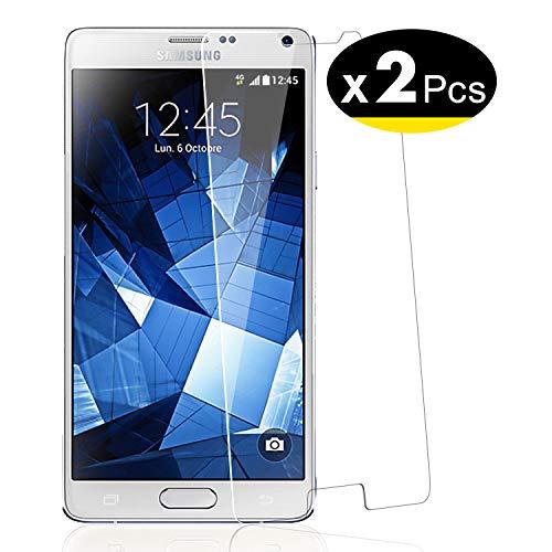 NEW'C PanzerglasFolie Schutzfolie für Samsung Galaxy NOTE4,[2 Stück] Frei von Kratzern Fingabdrücken und Öl, 9H Härte, HD Displayschutzfolie, 0.33mm Ultra-klar, Displayschutzfolie Samsung Galaxy NOTE4