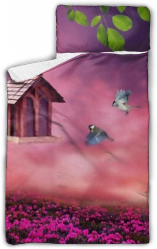 JIUCHUAN Kids Bargain depot Sleeping Bag Little Flowe Blossom Birdhouse Spring