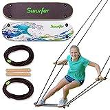 Swurfer The Original Tree Swing with Skateboard Seat Design and Adjustable Handles… (TreeSkate Waves)