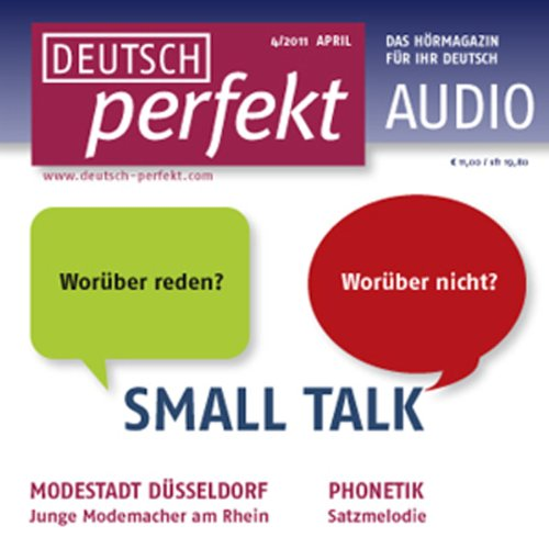 Deutsch perfekt Audio - Small Talk. 4/2011 audiobook cover art
