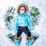 18 Inch Complete Ski Wear Doll Clothes Outfit, 6 Piece Zippered Jacket, Pants, Gloves, and Boots Too. Compatible with American Girl Dolls