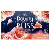 Downy Infusions 柔軟剤、アンバーブロッサム105 小さなシーツ(2パック)