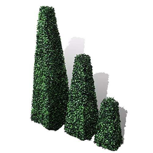 vidaXL 3 Plantas Artificiales de Madera de bóx-99 cm de Decoración de Jardín