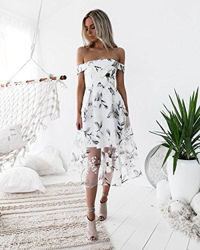 SYT Dress Frühling und Sommer Mode Temperament Damenbekleidung, eine gedruckte Eugen Gaze Kleid, M, b