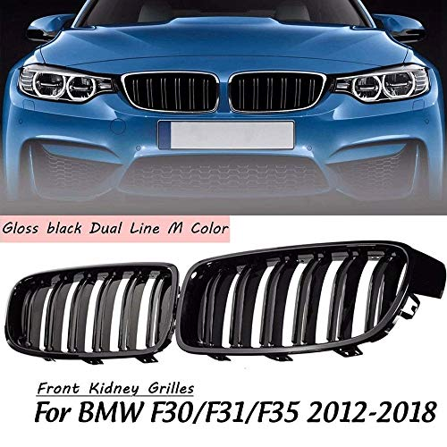 Autorennen-Grills Paar Vorder Niere Gitter Grill Gloss Black Fit For BMW F30 F31 F35 320i 328i 335i 2012 2013 2014 2015 2016 2017 Car Racing Grill Frontstoßstange Grille