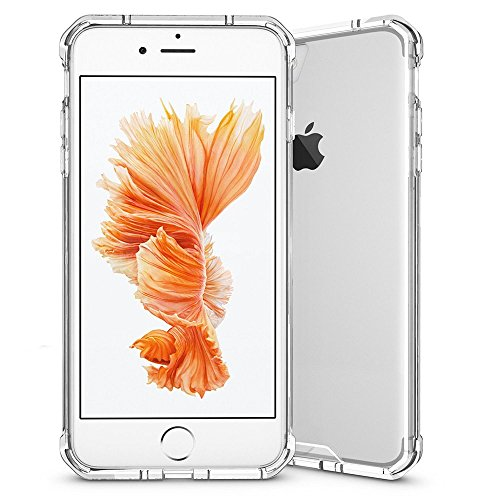 REY Funda Anti-Shock Gel Transparente para iPhone 7 Plus/iPhone 8 Plus / 7+ / 8+, Ultra Fina 0,33mm, Esquinas Reforzadas, Silicona TPU de Alta Resistencia y Flexibilidad, Anti Golpes