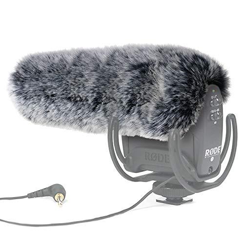 YOUSHARES microfono paraBrezza-outdoor vento scudo MIC paraBrezza manicotto pelliccia personalizzato per Rode VideoMic Pro fotocamera microfono