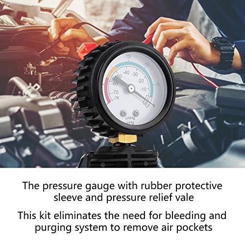 Herramienta de recarga del sistema de enfriamiento rojo, herramienta de recarga del refrigerante del puente aéreo de 90 PSI, para automóviles para SUV