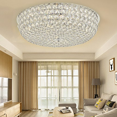 SPARKSOR Ø52CM Premium 8-Lights G9 Moderne elegante Runde Deckenleuchte Pendelleuchte Beleuchtung Crystal Chandelier