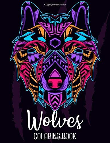 wolves coloring book 50 amazing wolves illustrations for adults kids and teens Perfect for Stress product image