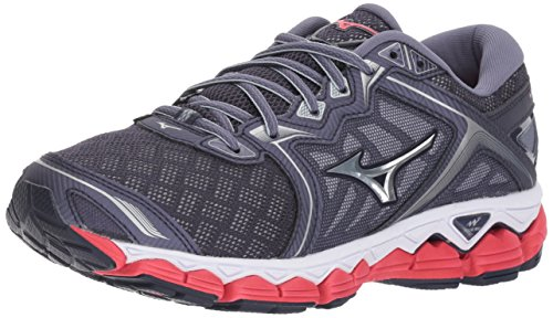 Mizuno Women's Wave Sky Running Shoes, Gray Stone - Silver, 7.5 B US