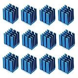 ButDillon 12Pcs Kit di Raffreddamento Dissipatore di Calore in Alluminio Radiatore per TMC2100 A4988 DRV8825 TMC2208 TMC2130 Stepper Motor