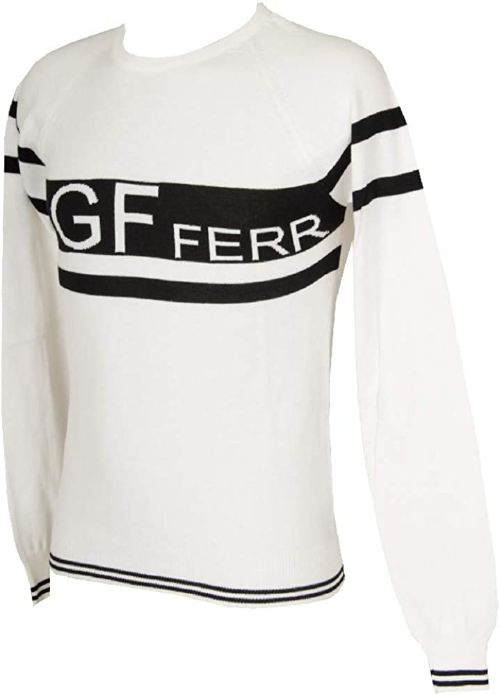 GF FERRE' Men's Pullover Man Sweater Crew Neck Long Sleeve Item 4F2840 81538 Made in Italy