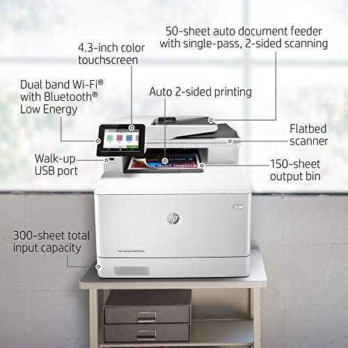 HP Color LaserJet Pro M479fdw - Impresora láser multifunción, color, Wi-Fi, Ethernet (W1A80A)
