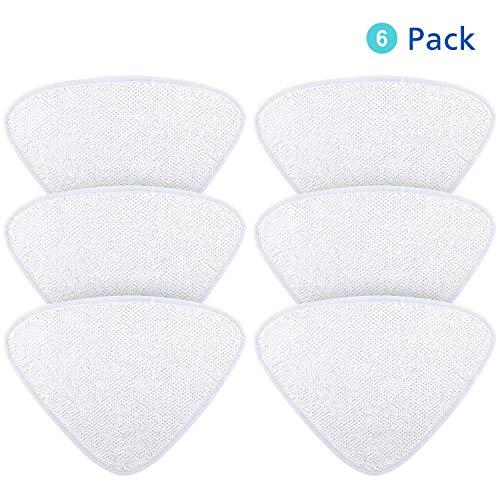 Funnytime 6 Stück Ersatzbezug Steam Mop Pads für Vileda 100 Hot Spray Mop, Mikrofasertuch waschbar - Weiß