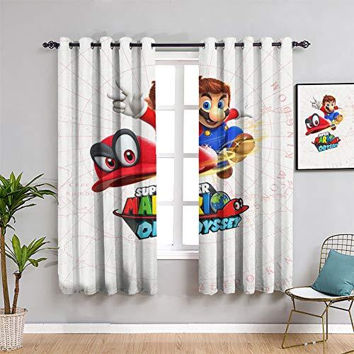 Juegos y anime Super Mario S Super Mario - Cortinas para ventana (72 x 63 pulgadas)
