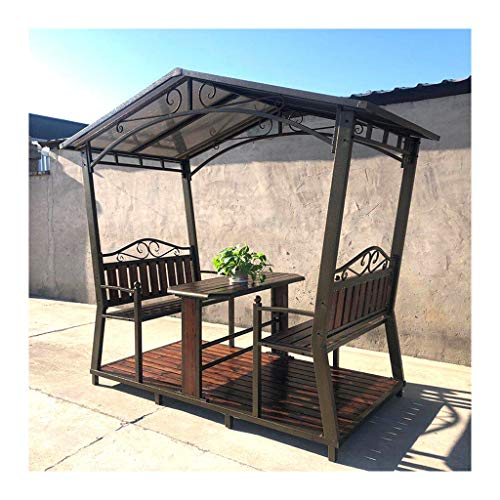HLZY Garden Furniture Gazebo 8.5x4.6 FT Patio Gazebo Outdoor Canopy Gazebo Backyard Creations, Gazebos for Patios with Desk, for Lawn, Garden, Backyard and Deck Outdoor Canopy