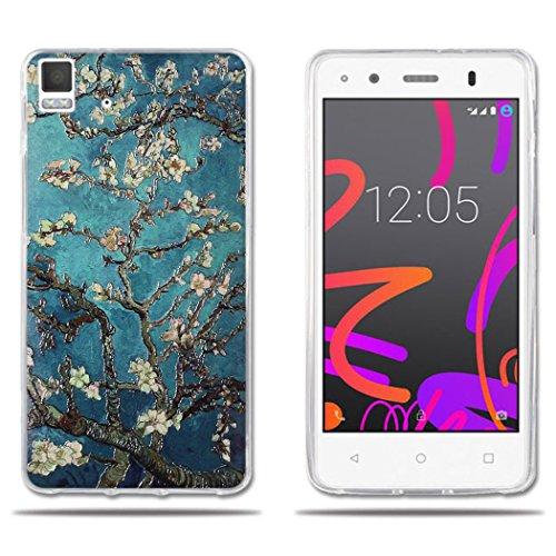 DIKAS Funda para BQ Aquaris E4.5, Diseño Protección Suave 3D TPU Gel Silicona Teléfono Celular Back Funda Carcasa para BQ Aquaris E4.5 4.5inch- Pic: 12
