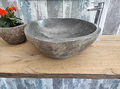Lavabo de piedra 1ª elección 193 XL Medida 51 x 47 cm Altura 18 cm Fotos reales del lavabo lavabo de baño fregadero baño fregadero baño baño de apoyo