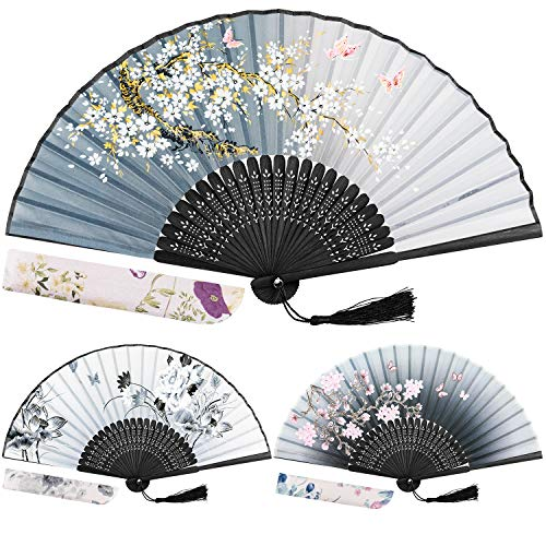 EAONE 3 Pcs Hand Folding Fan