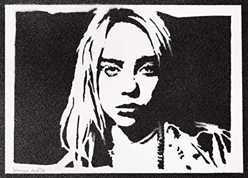 Billie Eilish Poster Plakat Handmade Graffiti Street Art - Artwork