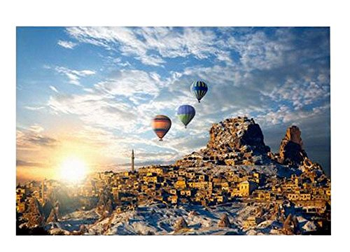 East Utopia [Fire Balloon Travel] Durable Puzzle Madera
