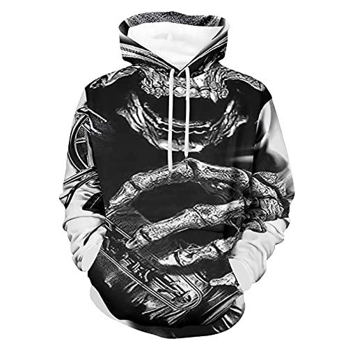 Abrigo de esqueleto, suéter de fiesta para adultos, 3XL