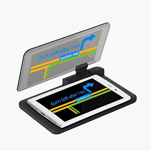 RubilityH6 Universal Car HUD Head Up Display immagine Supporto Riflettore di navigazione GPS HUD compatibile per Iphone / Samsung e Othe Smartphone- NERO