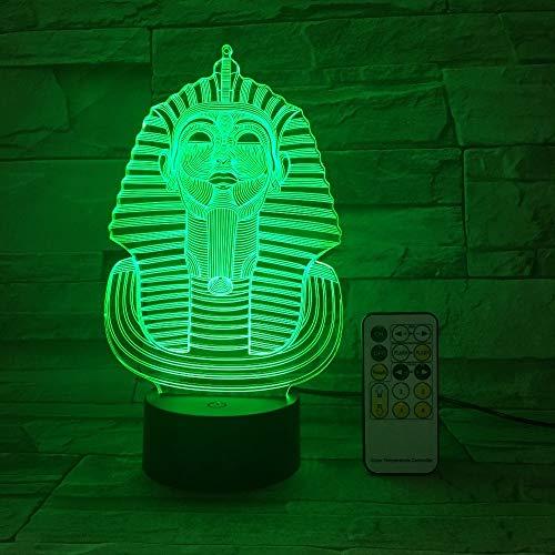 Lámpara de Mesa USB Creativo 3D LED visión 7 Colores Dormitorio Regalo mesita de Noche luz 2 Sin Controlador