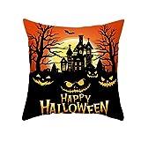 Amacigana Funda de cojín de Halloween con diseño de calabaza...