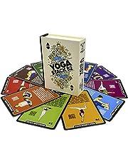 Stack 52 Yoga oefenkaarten: ontworpen door gecertificeerde yoga-instructeur. Inclusief video-instructies. Beginner tot geavanceerde poses en asana trainingsspelletjes. Verbeter fitness en flexibiliteit
