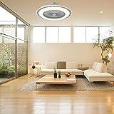 Ventilador de techo Lámpara Ventiladores de techo Luz, Candelabro Ventilador de techo Ventiladores(gray, Tricolor)