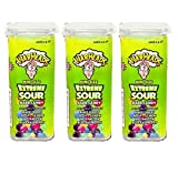 Warheads Extreme Sour Hard Candy Mini Size Flip Open Top - Pack Of 3