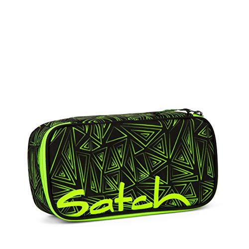 Satch Schlamperbox - Mäppchen groß, Trennfach, Geodreieck - Green Bermuda - Black