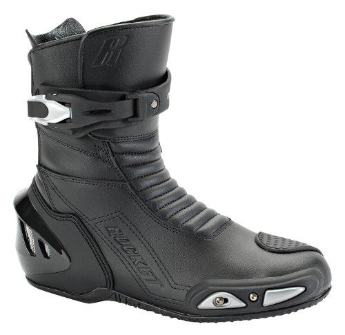 Joe Rocket Super Street RX14 Men's Leather Motorcycle Riding Boots (Black, Size 7)