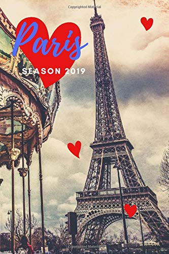 Paris season 2019: France Travel Journal - Squared Grid Small Notebook - La Tour Eiffel Carnet - Eiffel Tower Diary - European City Pictures - ... or Lovers; a5 Notebook 100 pages 6x9