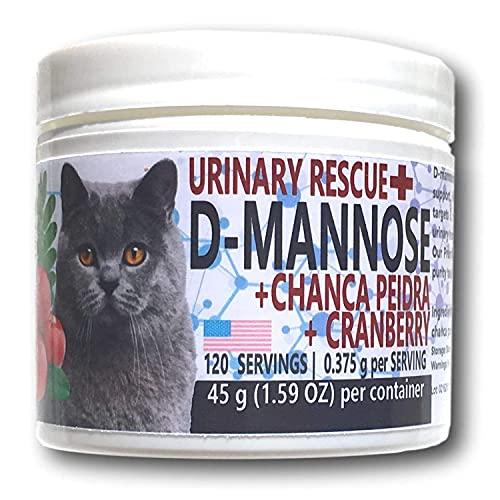 Equa Holistics Urinary Rescue for Cats  All-Natural UTI Remedy  D-Mannose  Cranberry & Chanca Piedra Dietary Supplement Formula for Cats (90 Days)