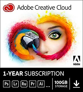 Adobe Creative Cloud | Entire collection of Adobe creative tools plus 100GB storage|12-month Subscription with auto-renewal, PC/Mac