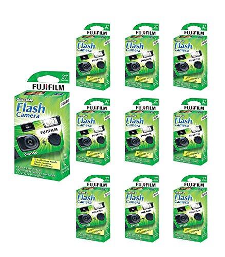 10x Fuji Quicksnap Flash 400 Disposable 35mm Camera 27 Exp 09/2020 Fresh