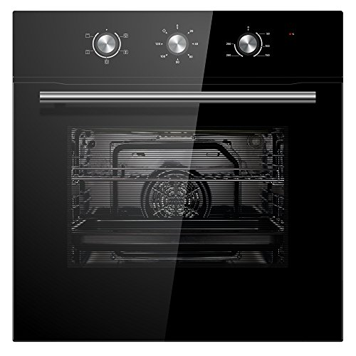 51ubs1Ti8cL. SS500  - Cookology COF600BK 60cm Black Built-in Single Electric Fan Forced Oven & timer
